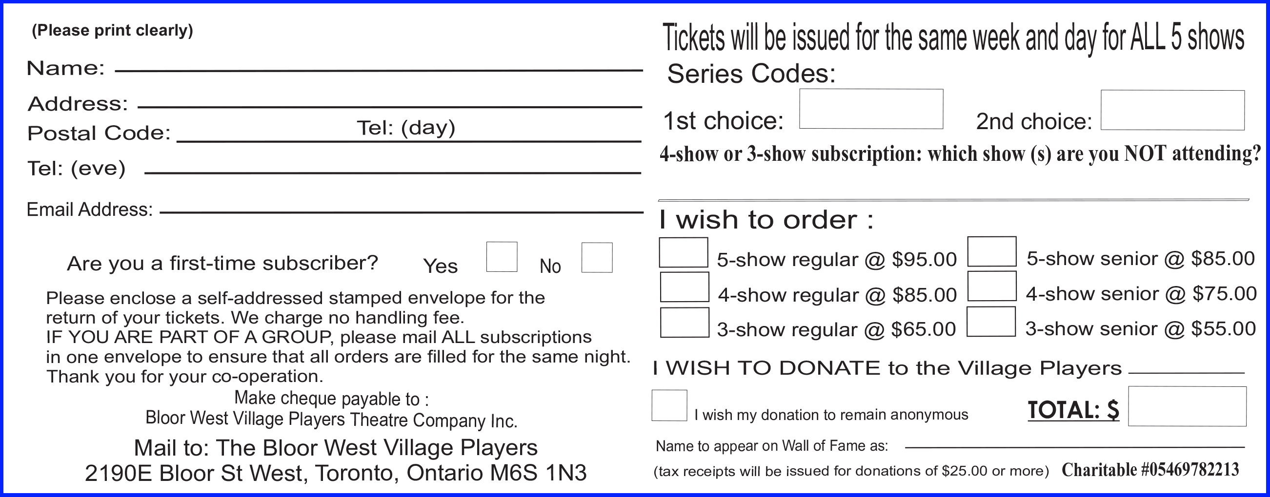 A Subscription Consists Of A Strip Of 3 Tickets With Dates As Shown In The  Horizontal Line In The Chart Below. To Order, Simply Pick A Preferred  Series Code ...