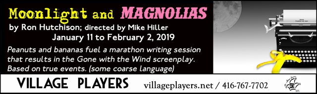 """village playhouse toronto"" ""village playhouse"" ""village players"" ""bloor west"" theatre theater Runnymede ""Moonlight and Magnolias"" ""Ron Hutchison"" ""Mike Hiller"""
