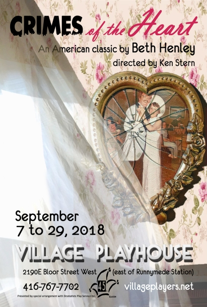 """village playhouse toronto"" ""village playhouse"" ""village players"" ""bloor west"" theatre theater Runnymede ""Crimes of the Heart:"" ""Beth Henley"" ""Ken Stern"" Lenny ""Julie Kern"" Babe ""Brianna Riche"" Meg ""Julia Mather"" Chick ""Deanna Moreira"" Doc ""Dan Bowers"" ""Barnette Lloyd"" "" Kevin Harvey"" ""Brianna Riché"""