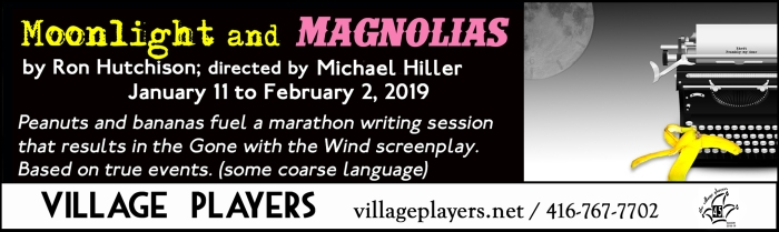 """village playhouse toronto"" ""village playhouse"" ""village players"" ""bloor west"" theatre theater Runnymede ""Moonlight and Magnolias"" ""Ron Hutchison"" ""Mike Hiller"" ""Michael Hiller"""
