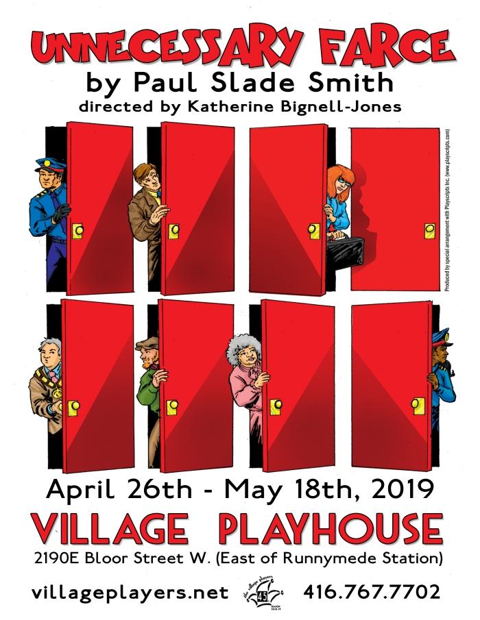 """village playhouse toronto"" ""village playhouse"" ""village players"" ""bloor west"" theatre theater Runnymede ""Unnecessary Farce"" farce ""Paul Slade Smith"" ""Katherine Bignell-Jones"" ""Steve Mackey"" ""Eric Sheridan"" ""Melinda Jordan"" ""Billie Dwyer"" ""Krista Barzso"" ""Karen Brown"" ""Jeff Burke"" ""Mayor Meekly"" ""Duane Taylor"" ""Agent Frank"" ""Michael Vidde"" Todd ""Karen Shue"" ""Mary Meekly"""