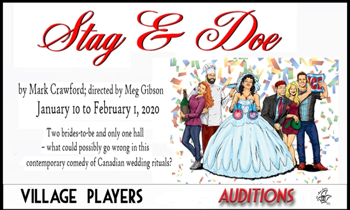 """village playhouse toronto"" ""village playhouse"" ""village players"" ""bloor west"" theatre theater Runnymede ""Stag And Doe"" ""Mark Crawford"" ""Meg Gibson"" auditions"