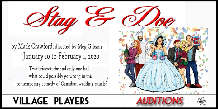 """""""village playhouse toronto"""" """"village playhouse"""" """"village players"""" """"bloor west"""" theatre theater Runnymede """"Stag And Doe"""" """"Mark Crawford"""" """"Meg Gibson"""" auditions"""