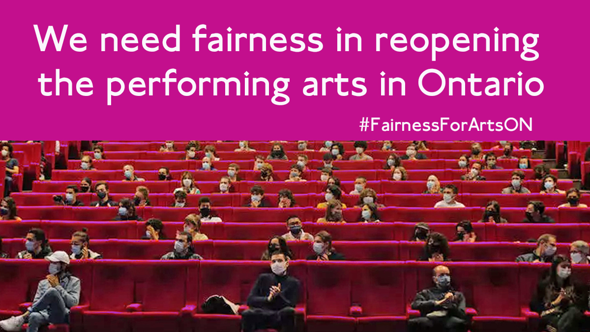 #fairnessforartsON , covid-19 , reopening, village players,