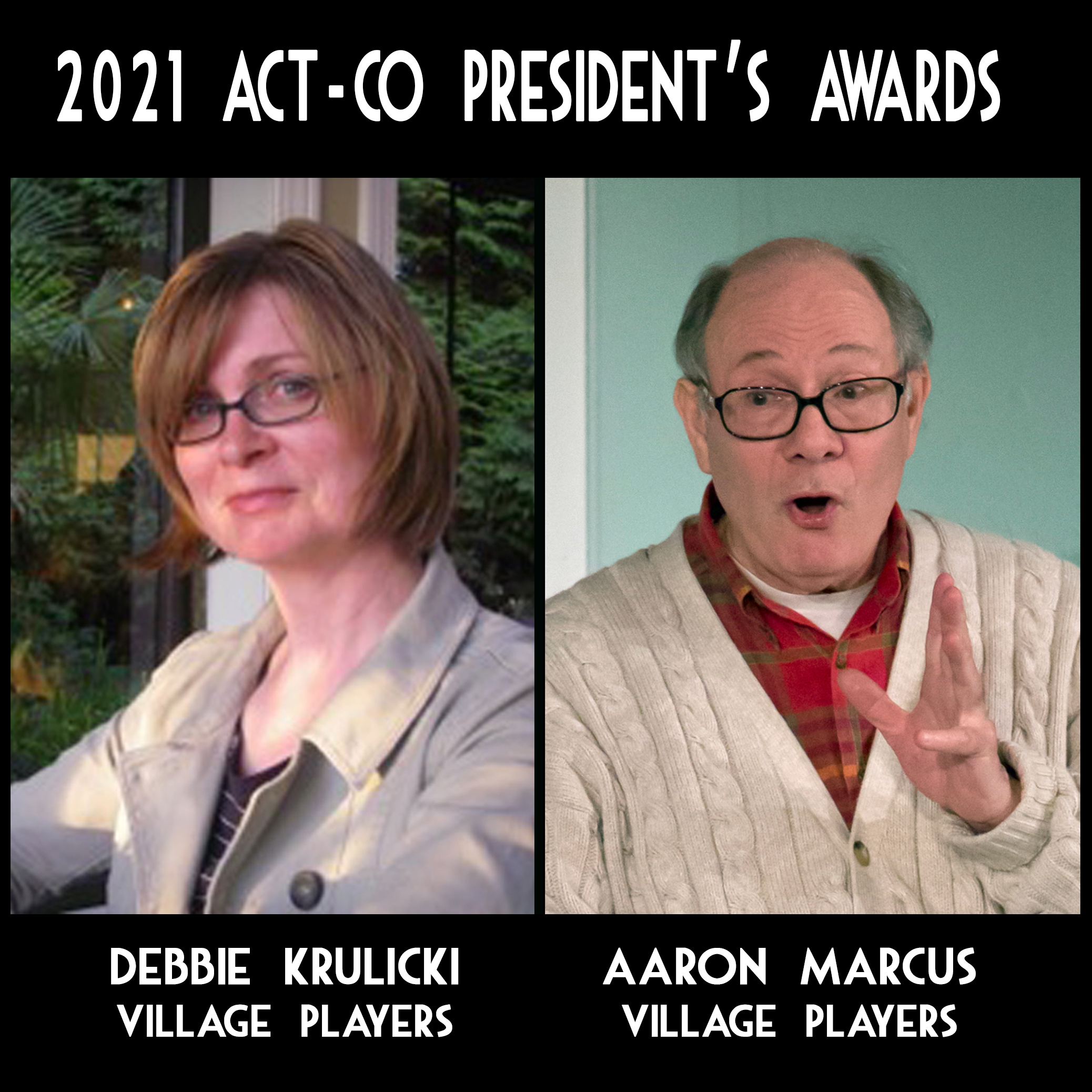 """""""Village Players"""" """"Bloor West Village Players"""" """"Village Playhouse"""" """"Runnymede theatre"""" theatre theater """"community theatre"""" """"Debbie Krulicki"""" """"Aaron Marcus"""" ACT-CO """"ACT-CO President's Award"""""""