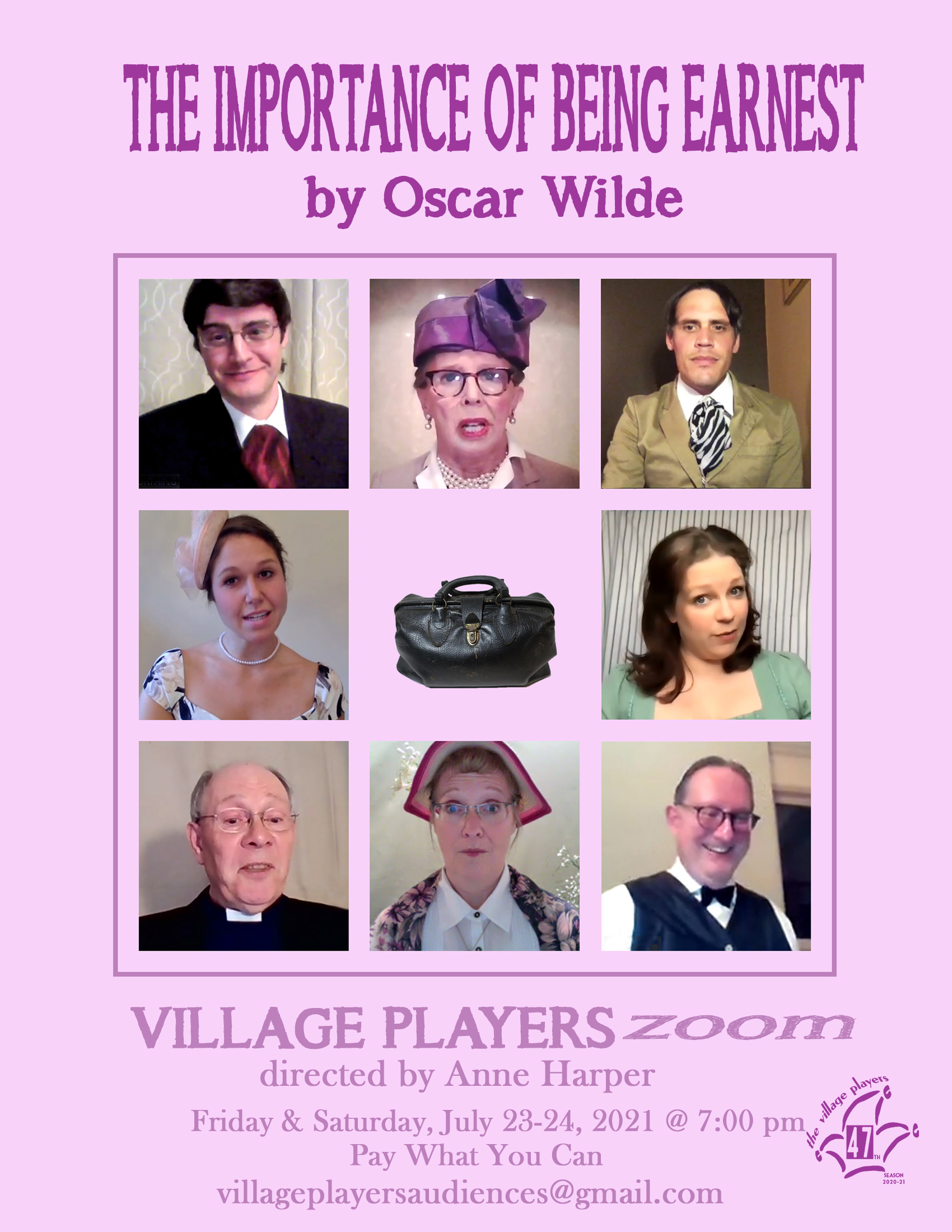 """""""Village Players"""" """"Bloor West Village Players"""" """"Village Playhouse"""" """"Runnymede theatre"""" theatre theater """"community theatre"""" """"Oscar Wilde"""" """"Importance of Being Earnest"""" Zoom"""