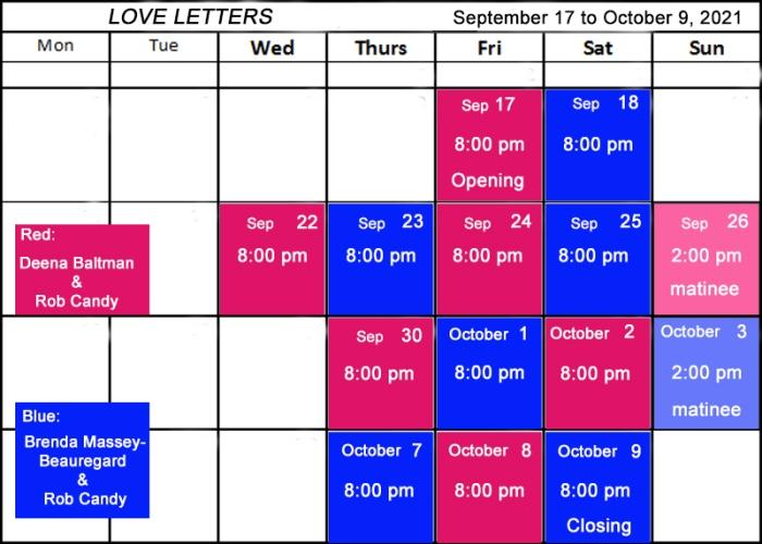 """Village Players"" ""Bloor West Village Players"" ""Village Playhouse"" ""Runnymede theatre"" theatre theater ""community theatre"" ""Love Letters"" Gurney schedule ""Deena Baltman"" ""Rob Candy"" ""Brenda Massey-Beauregard"""