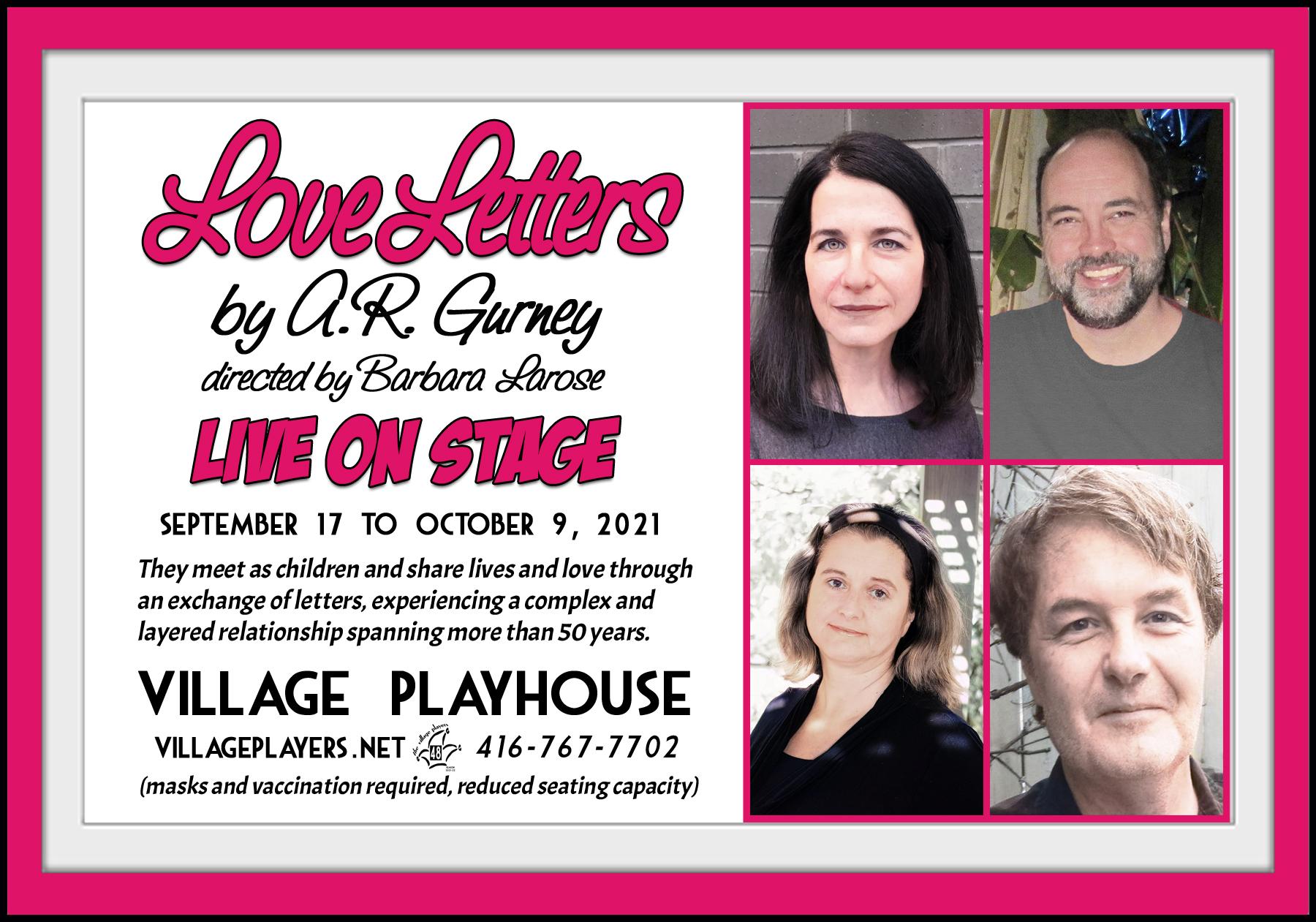 """Village Players"" ""Bloor West Village Players"" ""Village Playhouse"" ""Runnymede theatre"" theatre theater ""community theatre"" ""Love Letters"" ""AR Gurney"" ""live on stage"" ""Deena Baltman"" ""David Borwick"" ""Brenda Massey-Beauregard"" ""Rob Candy"""